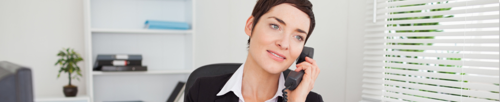 woman giving a call